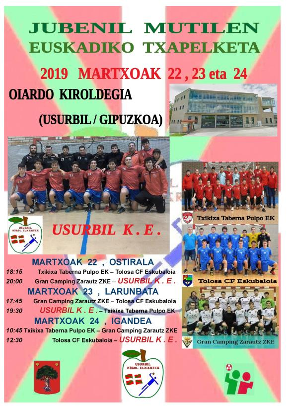 Cartel Fase Final Juvenil Mutilak
